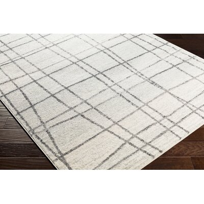 Cateline Distressed Taupe/Light Gray Area Rug Rug Size: Runner 27 x 76