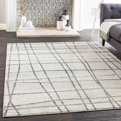 Cateline Distressed Taupe/Light Gray Area Rug Rug Size: Rectangle 53 x 76