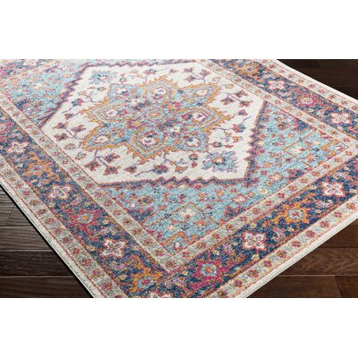 Almonte Blue/Navy Area Rug Rug Size: Runner 27 x 76