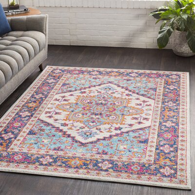 Almonte Blue/Navy Area Rug Rug Size: Rectangle 2 x 3