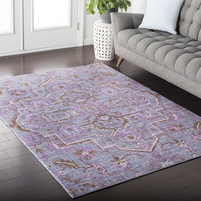 Almaraz Distressed Bright Purple/Violet Area Rug