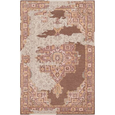 Landreth Hand Tufted Wool Distressed Rust/Brown Area Rug Rug Size: Rectangle 5 x 76
