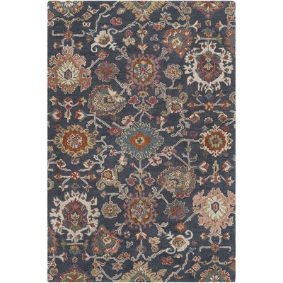 Greater Taree Hand Hooked Wool Charcoal/Ivory Area Rug Rug Size: Rectangle 8 x 10