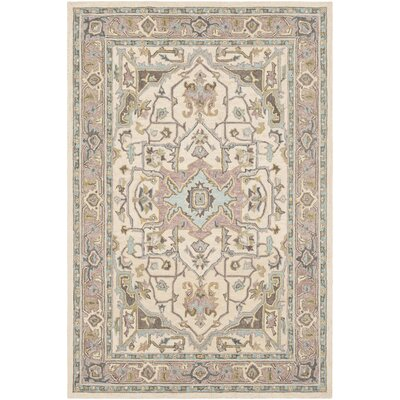 Greater Taree Hand Hooked Wool Olive/Butter Area Rug Rug Size: Rectangle 8 x 10