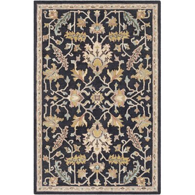 Greater Taree Hand Hooked Wool Black/Khaki Area Rug Rug Size: Rectangle 8 x 10