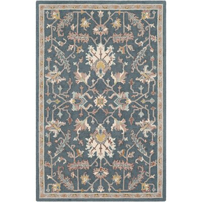 Greater Taree Hand Hooked Wool Teal/Taupe Area Rug Rug Size: Rectangle 2 x 3