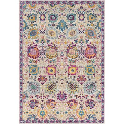 Lancaster Traditional Fuschia/Eggplant Area Rug Rug Size: Rectangle 52 x 76
