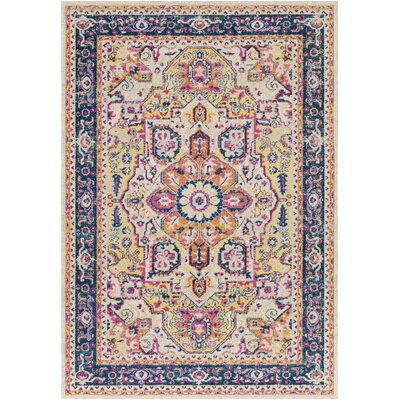 Lancaster Traditional Navy/Saffron Area Rug Rug Size: Rectangle 710 x 106