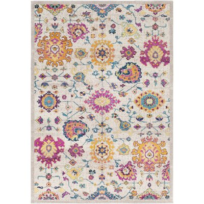 Lancaster Traditional Saffron/Fuschia Area Rug Rug Size: Rectangle 710 x 106