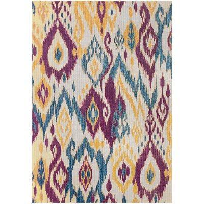 Lancaster Transitional Eggplant/Teal Area Rug Rug Size: Rectangle 22 x 3
