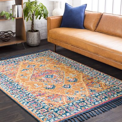 Bacchus Traditional Peach/Burnt Orange Area Rug Rug Size: Runner 27 x 10