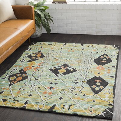 Almodovar Bohemian Aqua/Bright Orange Area Rug