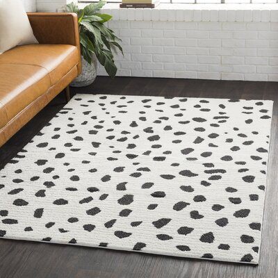 Aghanliss Bohemian Black/White Area Rug