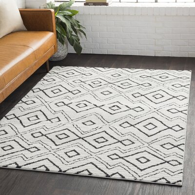 Aghanliss Bohemian Black/Charcoal Area Rug