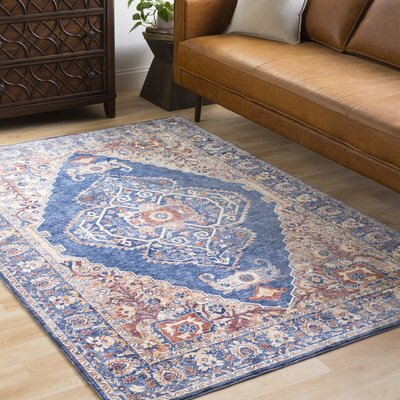 Jenessa Traditional Navy/Denim Area Rug