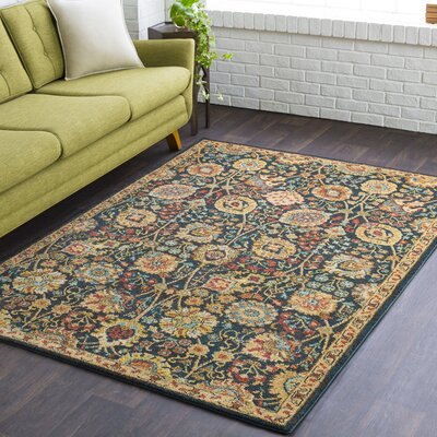 Grayer Classic Teal/Dark Brown Area Rug