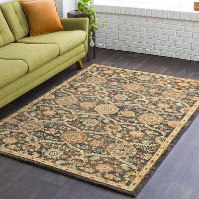 Grayer Classic Burnt Orange/Dark Brown Area Rug