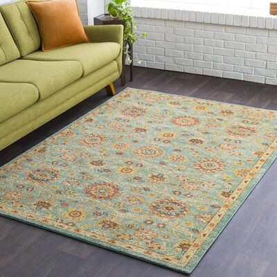 Quakertown Classic Sea Foam/Cream Area Rug