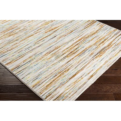 Chappel Modern Burnt Orange/Lime Area Rug Rug Size: Runner 27 x 71