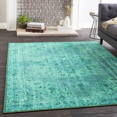 Almon Emerald/Dark Green Area Rug