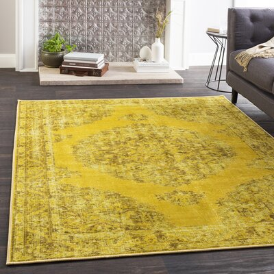 Almon Distressed Lime/Moss Area Rug