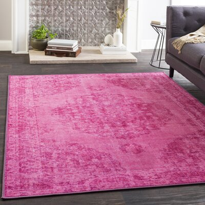 Almon Bright Pink/Lilac Area Rug