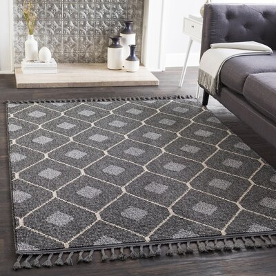 Clearwell Bohemian Charcoal/Cream Area Rug Rug Size: Runner 27 x 73