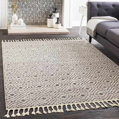 Kress Distressed Taupe/Charcoal Area Rug Rug Size: Runner 27 x 71