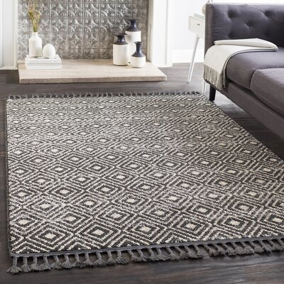 Kress Bohemian Charcoal/Taupe Area Rug Rug Size: Runner 27 x 71