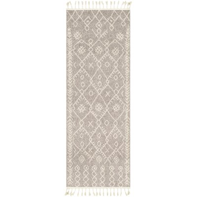 Kress Distressed Taupe/Cream Area Rug Rug Size: Runner 27 x 73