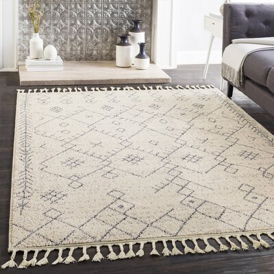 Kress Bohemian Cream/Gray Area Rug