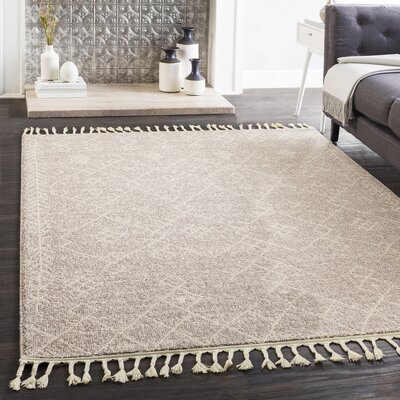 Kress Distressed Taupe/Cream Area Rug Rug Size: Rectangle 311 x 57