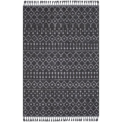 Kress Distressed Charcoal/Light Gray Area Rug Rug Size: Rectangle 93 x 121