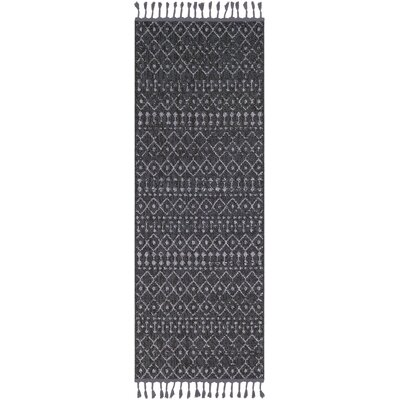 Kress Distressed Charcoal/Light Gray Area Rug Rug Size: Runner 27 x 10