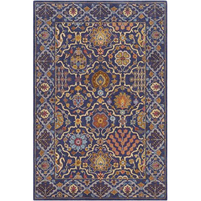 Alter Hand Tufted Wool Navy/Khaki Area Rug Rug Size: Rectangle 5 x 76