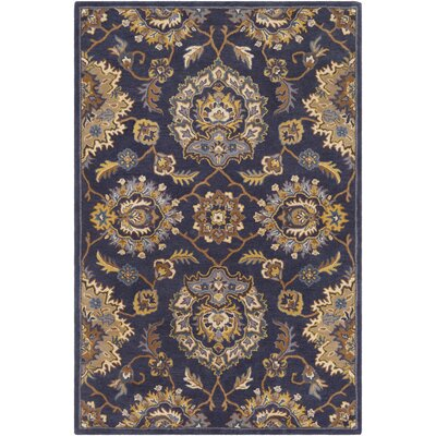 Browns Hand Tufted Wool Navy/Camel Area Rug Rug Size: Rectangle 2 x 3