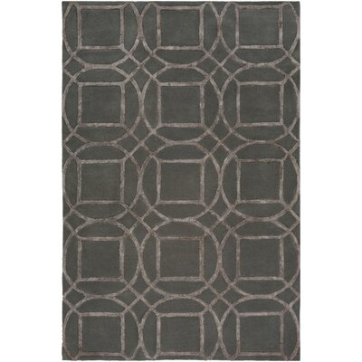 Dunloy Hand Tufted Modern Charcoal/Brown Area Rug Rug Size: Rectangle 8 x 10