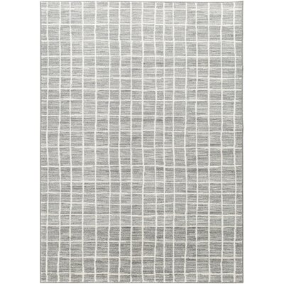 Carressa Distressed Medium Gray/Cream Area Rug