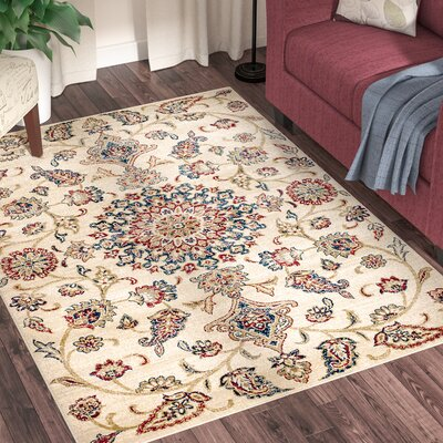 Chartridge Oriental Cream Area Rug Rug Size: 5 x 7