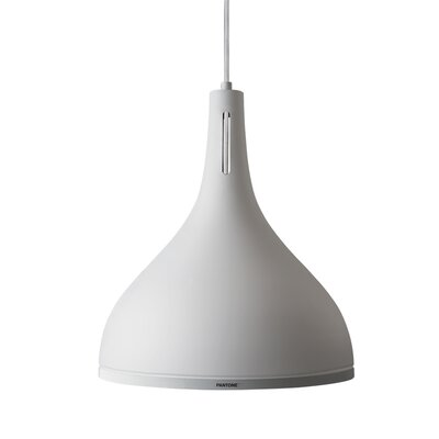 Castor 1-Light Inverted Pendant Shade Color: Brilliant White, Size: 15.7 H x 13.8 W x 13.8 D