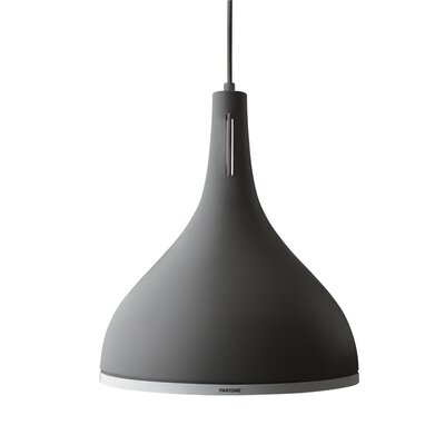 Castor 1-Light Inverted Pendant Shade Color: Pewter, Size: 11.4 H x 9.8 W x 9.8 D