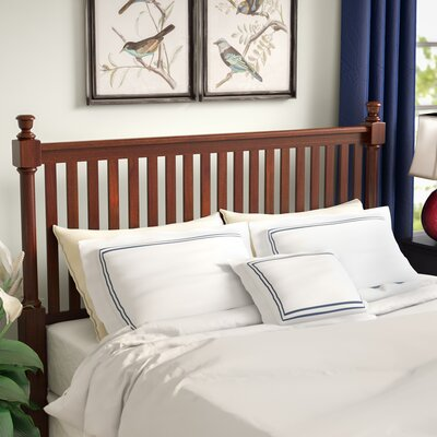 Marquardt Wood Frame Headboard Size: Queen, Color: Black