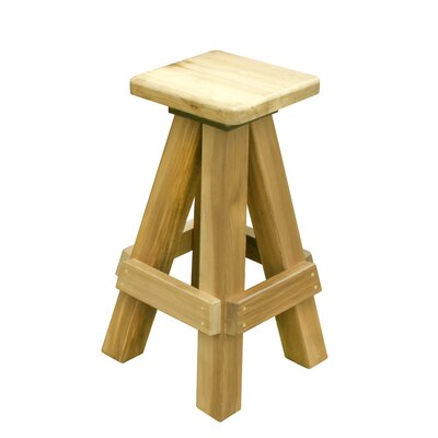 Langner 31 Swivel Bar Stool Color: Natural