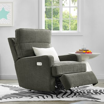 Enchanted Power Rocker Recliner Upholstery: Gray