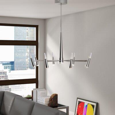 Everdeen 9-Light LED Sputnik Chandelier Finish: Chrome