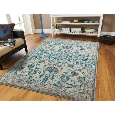 Innisbrook Traditional Vintage Distressed Scatter Blue Indoor/Outdoor Area Rug Rug Size: Rectangle 8 x 11