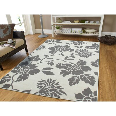 Irondale Contemporary Gray/Ivory Indoor/Outdoor Area Rug Rug Size: Rectangle 5 x 8