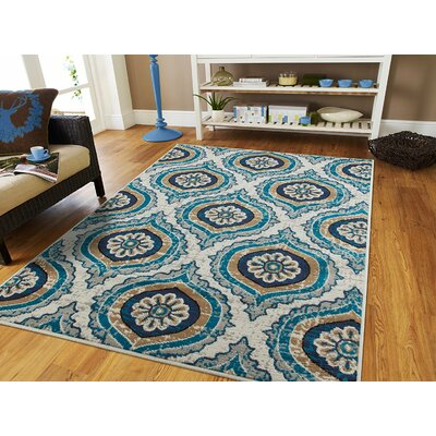 Betton Navy Indoor/Outdoor Area Rug Rug Size: Runner 2 x 8