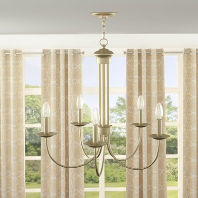 Lakemoor 5-Light Candle-Style Chandelier Finish: Antique Brass