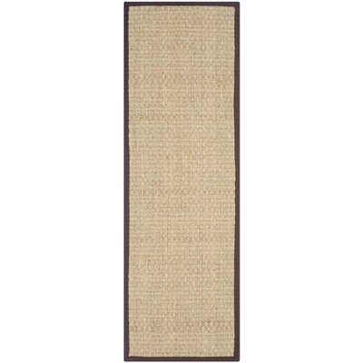 Richmond Natural / Dark Brown Indoor Area Rug Rug Size: Runner 26 x 8